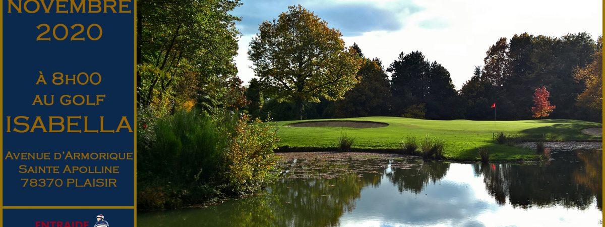 Golf solidaire Entreprise-individuel à Isabella (78) le 3 novembre 2020
