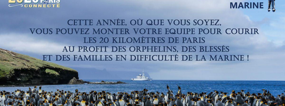 Courez les 20 kilomètres de Paris connectés, au profit de l'Entraide Marine, où que vous soyez !